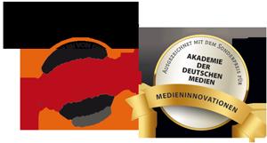 Empfohlen und ausgezeichnet von: Arbeitsgemeinschaft Familienrecht im DAV - Akademie der Deutschen Medien: Medieninnovationen